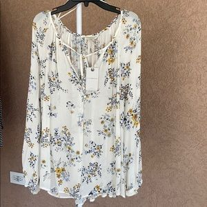 light weight flowy floral top